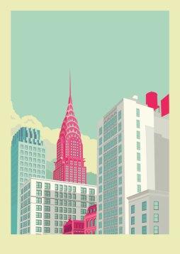 Park-Avenue-New-York-City-Illustration-by-Remko-Heemskerk