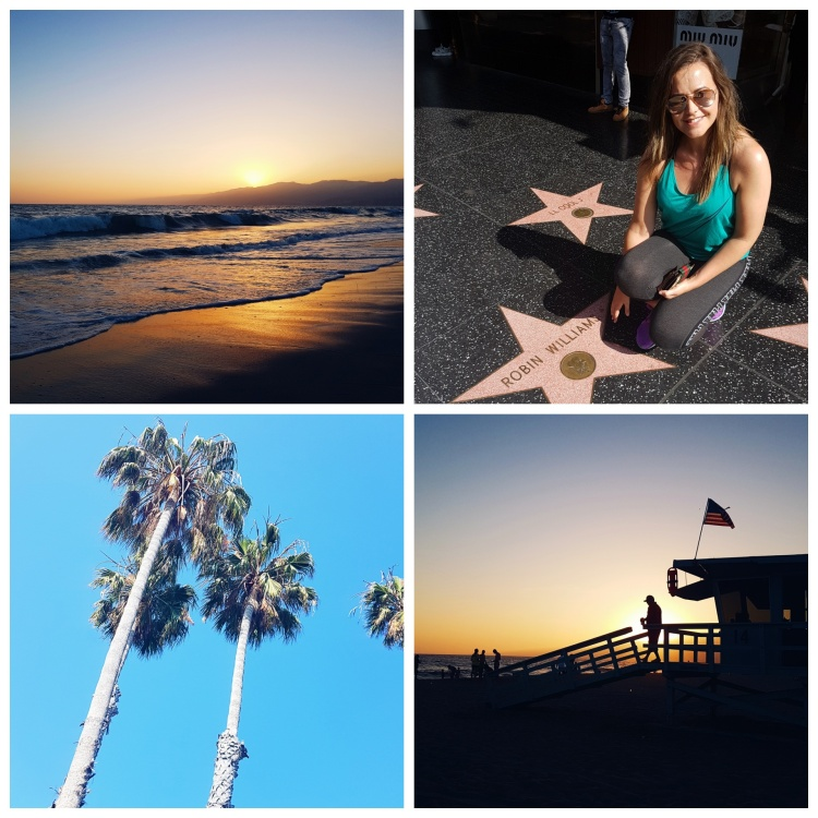 Blogger Niamh Kelly - Hollywood Walk of Fame, Santa Monica Beach - Los Angeles
